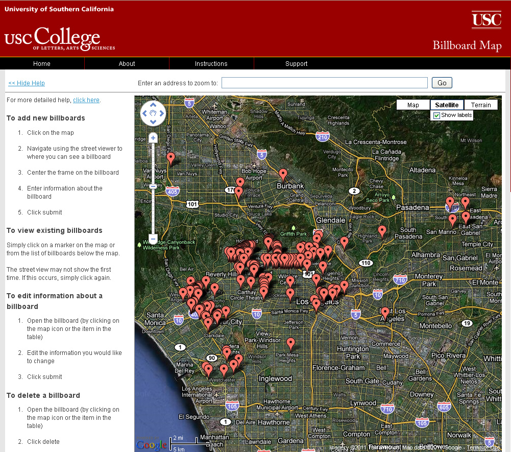 Usc student uses crowdsourcing to map billboard locations sciox Choice Image