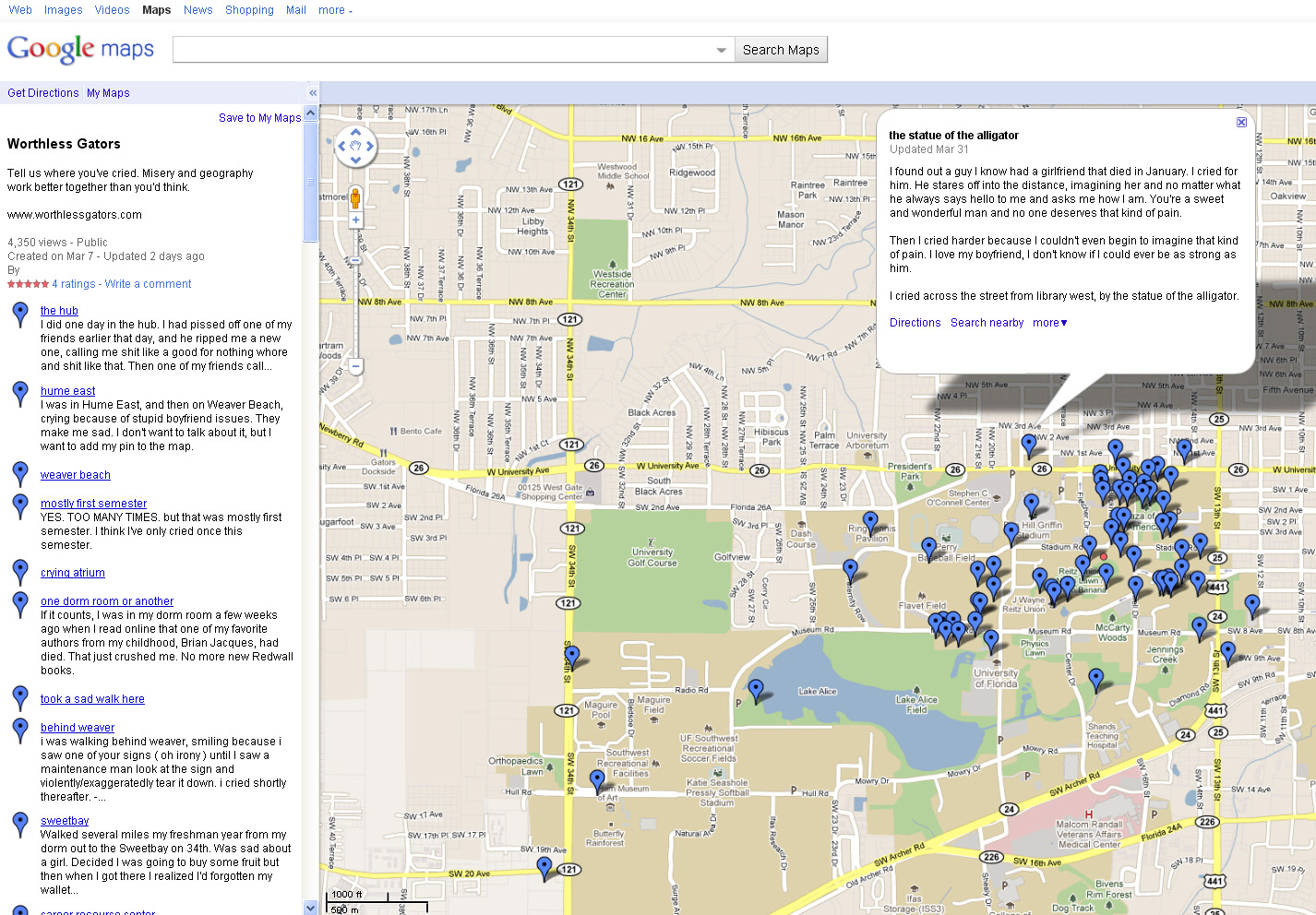 Map University Of Florida.Sad Maps At University Of Florida