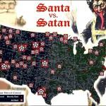Mapping Santa vs. Satan – Round 1